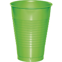 Lime Green Plastic Beverage Cups - 12 oz