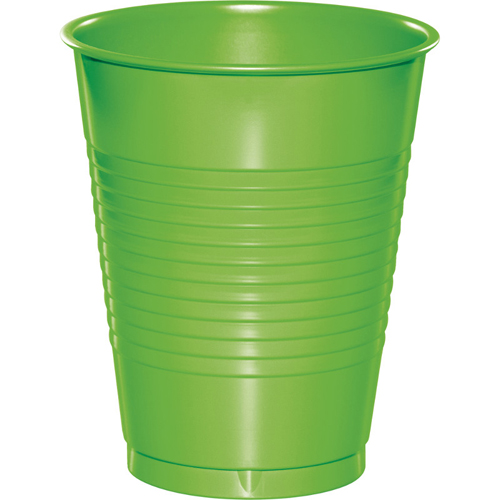 Lime Green Plastic Beverage Cups - 16 oz