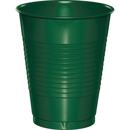 Hunter Green Plastic Beverage Cups - 16 oz Bulk