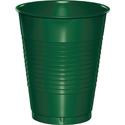 Hunter Green Plastic Beverage Cups - 16 oz