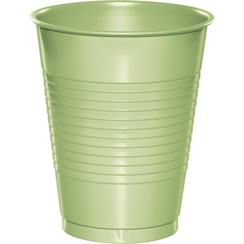 Pistachio Plastic Beverage Cups - 16 oz