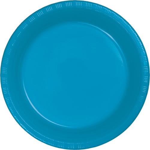 Turquoise Plastic Banquet Dinner Plates