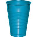 Turquoise Plastic Beverage Cups - 12 oz