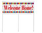 Welcome Home Plastic Yard Banners