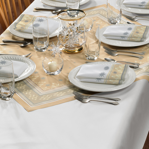 Silver Paper Banquet Tablecovers - Dunisilk