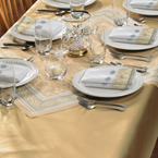 Gold Paper Banquet Tablecovers - Dunisilk