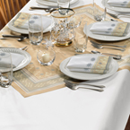 White Paper Banquet Tablecovers - Dunisilk