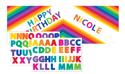 Rainbow Plastic Happy Birthday Banners