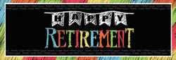Chalkboard Retirement Giant Party Banners