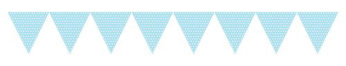 Pastel Blue Paper Flag Banners - Polka Dots