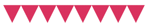 Red Paper Flag Banners - Polka Dots