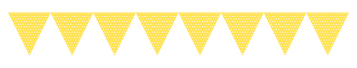 Yellow Paper Flag Banners - Polka Dots