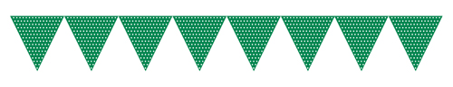 Green Paper Flag Banners - Polka Dots