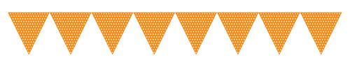 Orange Paper Flag Banners - Polka Dots