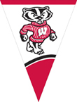 Wisconsin Badgers Plastic Flag Banners
