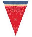 Red Bandana Plastic Flag Banners