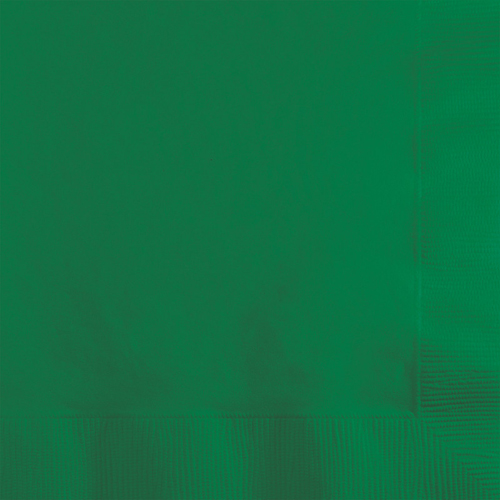 Emerald Green Beverage Napkins - 1800 Count