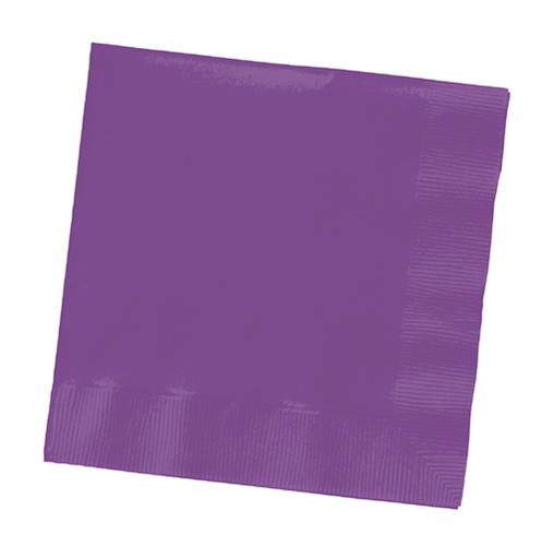 Purple Beverage Napkins - 1800 Count