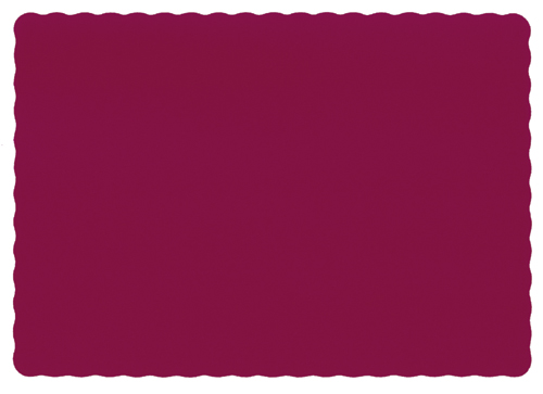 Burgundy Recycled Paper Placemats
