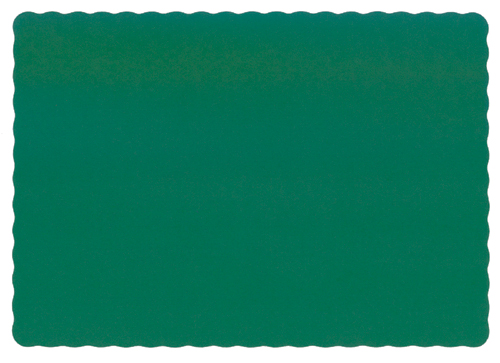 Hunter Green Recycled Paper Placemats