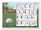 Golfing Tips Paper Placemats