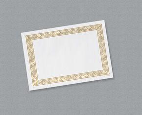 Gold Greek Key Paper Placemats