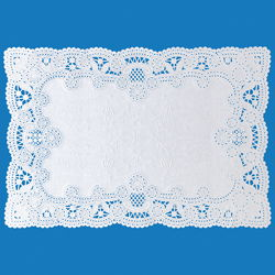 "White Lace Paper Placemats - 10"" x 14"""