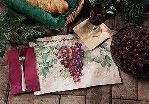 Tuscany Grapes Paper Placemats