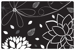 "Midnight Floral Paper Placemats - 10"" x 15"""