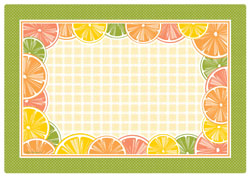 Citrus Fruits Paper Placemats