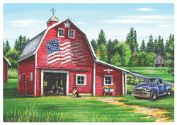 American Red Barn Paper Placemats