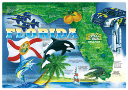 Florida the Sunshine State Paper Placemats