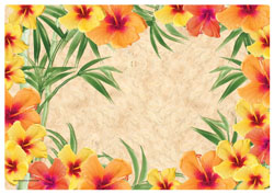 Yellow Hibiscus Paper Placemats