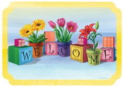 Floral Welcome Paper Placemats