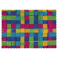 Colorful Burlap Paper Placemats