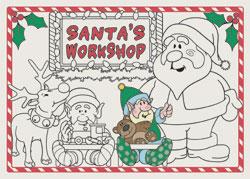 Santa's Workshop Paper Placemats