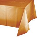 Pumpkin Spice Plastic Tablecloths - 54 x 108 Inch
