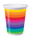 Rainbow Plastic Cups – 16 oz.