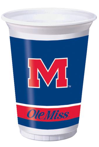 University of Mississippi Plastic Beverage Cups