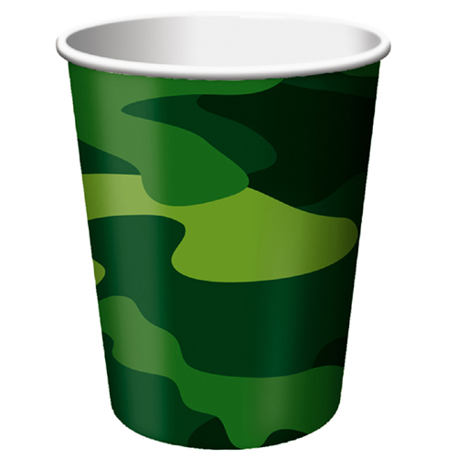 Army Themed Paper Beverage Cups