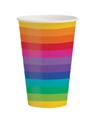 Rainbow Paper Cups – 12 Oz