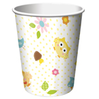 Owl Baby Shower Paper Beverage Cups