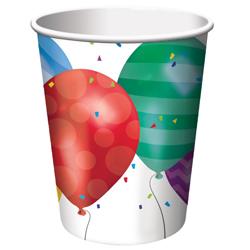 Balloon Parade Paper Cups, 9 Oz