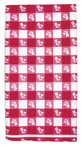 Red Gingham Plastic Banquet Tablecloths - 12 Count