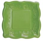 Verdi Green Embossed Paper Dessert Plates