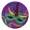 Mask of Mardi Gras Paper Dessert Plates