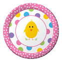 Easter Chick Paper Dessert Plates