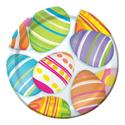 Easter Egg Paper Dessert Plates