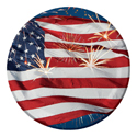 4th of July Paper Dessert Plates - 7