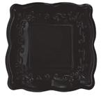 Black Licorice Embossed Paper Dessert Plates